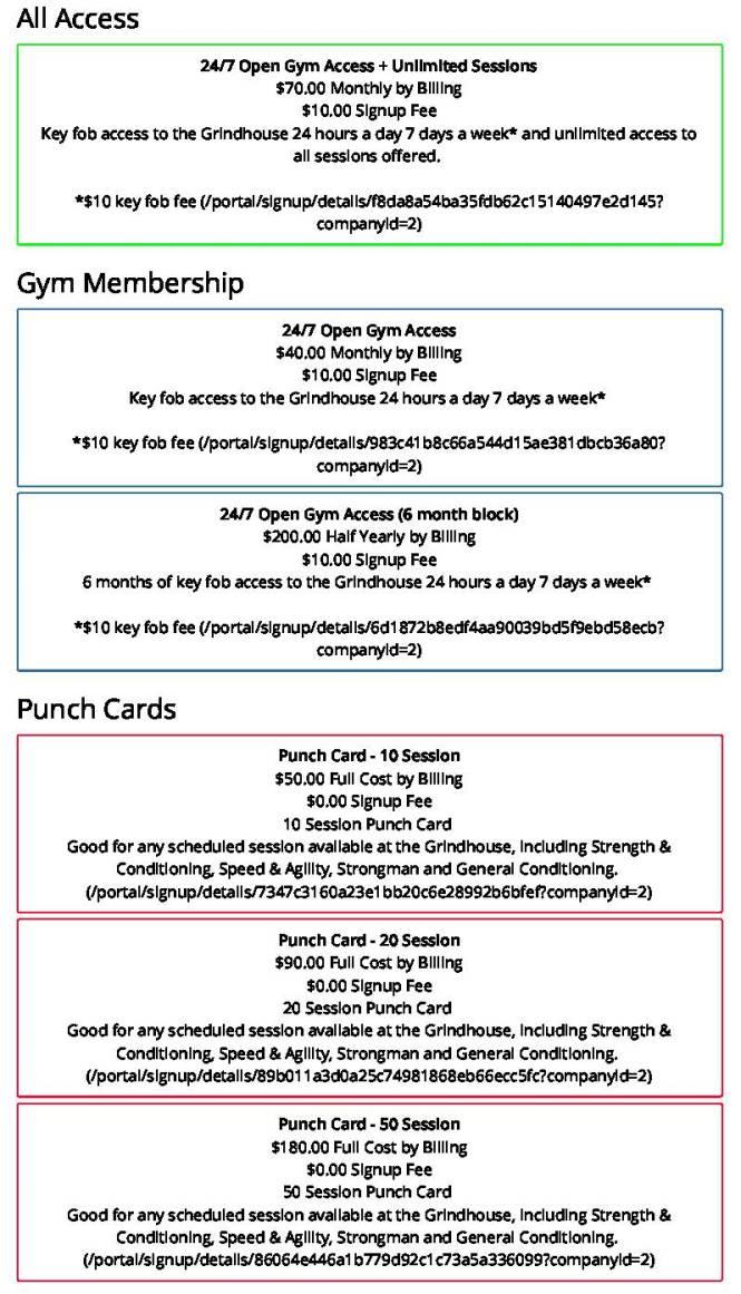 Gym Master Member Portal _ Signup